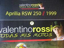 FASCICULE 7  MOTO GP VALENTINO ROSSI APRILIA  RSW 250 MUGELLO 1999