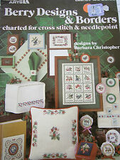 1981 Berry Designs & Borders Cross Stitch Needlepoint Pattern Book Strawberry