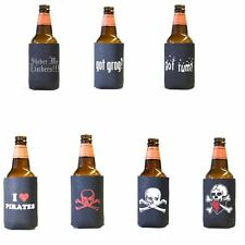 Lot of 7 Pirate Koozie Variety Set #2 Beer Soda Pop Can Koolie Cooler Insulator