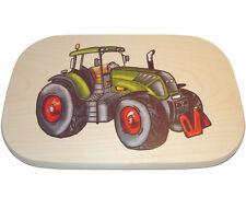 Schneidbrettchen Traktor-Motiv bunt Vesperbrett Frühstücksbrettchen Holz * NEU