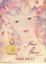 PUBLICITE ADVERTISING 1982   NINA RICCI   Fleur de fleurs est un parfum