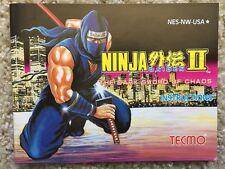 Ninja Gaiden II 2 The Dark Sword of Chaos NES Nintendo Instruction Manual Only