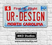 US License Plate - Aluminium North Carolina Red Printed Plate