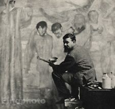 1913/66 Vintage 11x14 FRANK BRANGWYN Welsh Artist Photo Art ALVIN LANGDON COBURN
