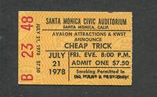 1979 Cheap Trick Concert Ticket Stub Santa Monica Heaven Tonight Surrender