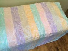 """le jacquard francais tablecloth Pastel Stripe Floral 60 X 64"""" Table Cloth"""