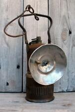 Antique 1900s Dewar Iron & Brass Vintage Carbide Miner's Lantern Brooklyn Ny