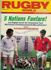 RUGBY WORLD MAGAZINE FEBRUARY 1988 - PERFECT GIFT FOR A FAN BORN IN THIS MONTH