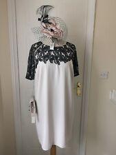 Jacques Vert Cape Dress Size 20 Beige Black