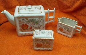 Antique Ceramic Arthur Wood Tea Set , Teapot, Sugar Bowl, Cream Jug C1937