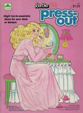 1985 Press-Out Book - 8 Fun to Assemble Items For Your Desk or Dresser