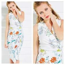 Closet @ Kaleidoscope Sz 8 Floral Print Midi DRESS Wrap Front Occasion Races £70