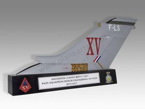 Panavia Tornado GR4 RAF Tail Fin Solid Kiln Dried Mahogany Handmade Model