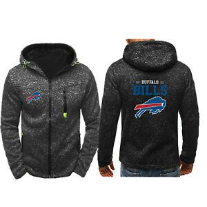 Buffalo Bills Hoodie Zip Up coat Sprots Sweatshirt Classic jacket gift For Fans