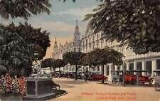 Habana Cuba Central Park Auto Stand Antique Postcard J72229