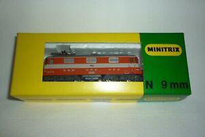 MINITRIX EMS - SPUR N - 12511 - SBB ELEKTROLOK E 4/4 - 11112 OVP