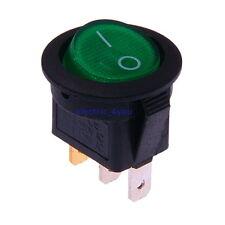 Interrupteur à bascule Lumineux Rond 230V Bipolaire On/Off Diamètre 23mm Vert