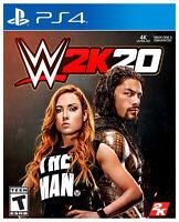 PLAYSTATION 4 - WWE 2K20 - BRAND NEW SEALED - PS4 GAME - W2K20 2020 WRESTLING