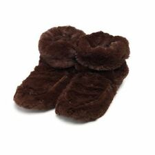 Warmies Cozy Brown Boots Heatable Microwavable Plush Bed Slippers Foot Warmer