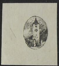 Liechtenstein stamps 1921 MI 57 Imperforated PROOF UNG(as issued) VF