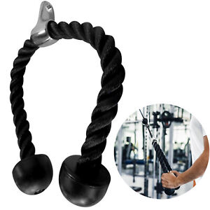 Evelots Tricep Pull Down Rope-Steel Swivel-Heavy Duty Nylon-Non Slip-28 Inches