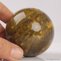 279g 59mm Natural Ocean Jasper Quartz Crystal Sphere Healing Ball Chakra Decor