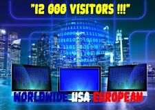 TRAFIC WEB TRAFFIC ONLINE WEBSITE 12 000 REAL VISITORS WORLDWIDE USA EUROPEAN
