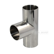 """38mm 1-1/2"""" 1.5"""" Sanitary Weld TEE 3 Way Pipe Fitting Stainless Steel SS316 New"""