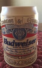 Anheuser Bush Budweiser Stein Beer Mug  1995