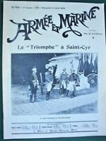 "Saint-Cyr ""Triomphe"" French Military School orig 1902 Armée et Marine Magazine"