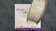 10m White CW1724 2 Pair CAT5E BT CABLES Twisted Telephone/  Network (CW1308)/10m