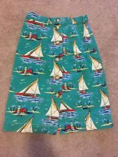 Vintage 1980's Breeches A-line Skirt Sailboat Island Sz 4