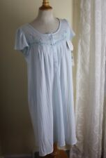 NWT Miss Elaine -Sz M Silky Knit Fancy Floral Lace Nightshirt Gown -