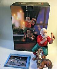 Harley-Davidson Christmas Santa Figurine 1994 Old Toy Maker Motorcycle Art - Box