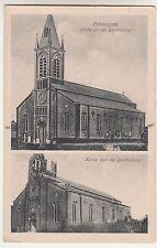 Ak Prémesques Kirche vor & nach der Beschießung Frankreich france 1 Wk IWW