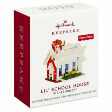 Hallmark 2019 Fisher Price Schoolhouse Miniature Ornament