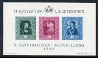 LIECHTENSTEIN SCOTT#238 SOUVENIR SHEET GUM BEND MINT NEVER HINGED--SCOTT $110.00