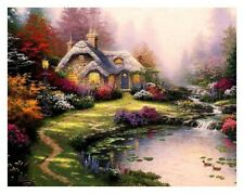 Not Framed Canvas Print  home decor wal art Thomas kinkade  everett's cottage