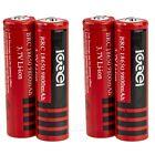 4 PCS 18650 9800mAh 3.7v Li-ion UltraFire BRC Rechargeable Battery For LED Torch