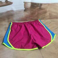 Nike Dri-Fit Girls running shorts pink blue Yellow Sz XL exercise Yoga