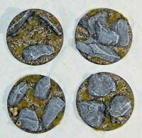 65mm Slate scenic resin base x1 Wargames fantasy Sci-Fi 4 designs available