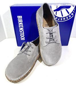 Birkenstock Gary Women's Sz 7 (EU38)Narrow Fit Lt Grey Suede Oxford Shoes S1-552