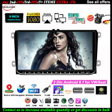 9''2 Din GPS Android Car Radio for VW/Seat +CAM Touch iOS Mirror Link Wifi FM BT