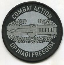 COMBAT ACTION BADGE CAB OPERATION IRAQI FREEDOM PATCH OIF Iraqi Made