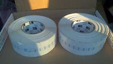 "2 Rolls of 10020 Genuine ZEBRA Labels 2-3/8"" x 1/2"" Jewelry Tag 3"" CORE# 95031p"