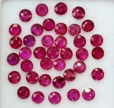 Natural Ruby Round Cut 2.50 mm Lot 22 Pcs 1.72 Cts Red Pink Loose Gemstones