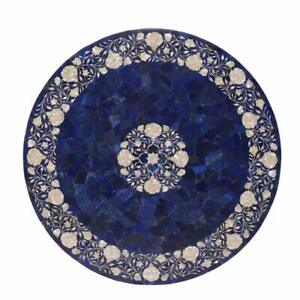 """42"""" Marble Dining Table Top Inlay Rare Semi Round Center Coffee Table AR0675"""