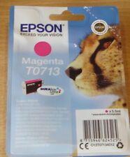 GENUINE EPSON T0713 TO713 Magenta (red) cartridge ORIGINAL CHEETAH airtight ink