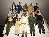 1990s Vintage GI Joe Hasbro + off brands Lot of 10 Action Figures