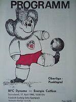 Programm 1981/82 BFC Dynamo - Energie Cottbus